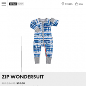 Zip Wondersuit (Newborn size only) $10 Deal Image