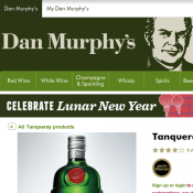 Tanqueray London Dry Gin 1L $58 (30% Off) @Dan Murphy's Deal Image