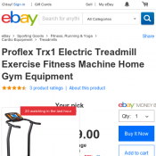 Proflex Trx1 Electric Treadmill Exercise Fitness Machine Home Gym Equipment $189 (RRP $399)