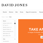 Take an extra 25% OFF already reduced products @David Jones Deal Image