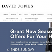 Further 25% Off Clearance Sale (Already Up to 50% Off) @David Jones Deal Image