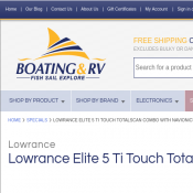 Lowrance Elite 5 Ti Touch TotalScan Combo with Navionics $799 (RRP $1099) Deal Image