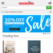 20% Off Everything / 25% Off for Purchases over $100 @Koorong Deal Image