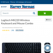 Logitech MK220 Wireless Keyboard and Mouse Combo $18  Deal Image