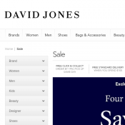 Save 20% Four Days of Fashion @Davidjones Deal Image