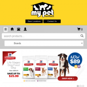 $10 Off Online Orders - Minimum Spend $30 @My Pet Warehouse Deal Image