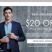 50% OFF Sitewide with code @Vanheusen Deal Image