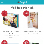 50% Off Storewide @Snapfish Deal Image