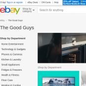 The Good Guys 20% off Sitewide @ eBay Deal Image