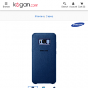 Samsung Galaxy S8+ Alcantara Cover (Blue)  Deal Image