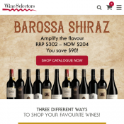 Exclusive TopBargains Offer: 10% Off Orders! Minimum Spend $100 @Wine Selectors