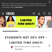 Students Get 20% OFF at ASOS Deal Image