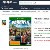 FAR CRY 5 XBOX ONE $69 & Free delivery @Amazon Deal Image