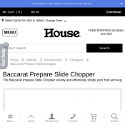 Baccarat Prepare Slide Chopper $9.99 (RRP $24.99) Deal Image