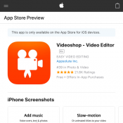 Videoshop - Video Editor for Free (RRP $3.99) Deal Image