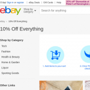 10% Off Everything (Minimum Spend $75) @Ebay Deal Image