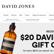 Further 20% Off Clearance Sale @David Jones Deal Image
