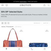 Mid Season Sale: 30% Off Selected Styles @Oroton Deal Image