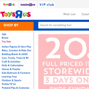20% Off Full-Priced Items @Toys R Us Deal Image