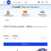 Click Frenzy Junior - Bikes 25% OFF @Big W Deal Image