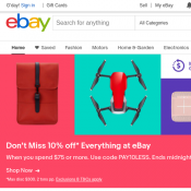 10% off When You Spend $75 or More on eBay Deal Image