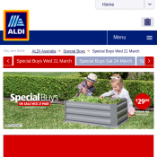 Special Buys On sale Wed 21 @ALDI - Garden bed with base $29.99 Deal Image