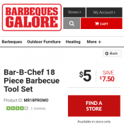 Bar-B-Chef 18 Piece Barbecue Tool Set $5 (was $12.50) @Barbeques Galore Deal Image