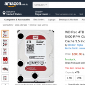 WD Red 4TB NAS HDD 5400 RPM SATA 6 Gb/s 64MB Cache $200 Deal Image
