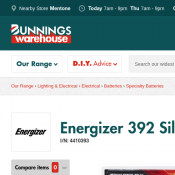 Energizer 392 Silver Battery $1.20 @Bunnings Deal Image