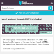 10% Discount Voucher On Selected Bestsellers with code @Book Depository Deal Image