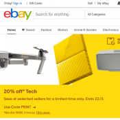 10% Off Everything - Minimum Spend $75 with code @Ebay Deal Image