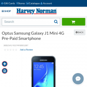 Optus Samsung Galaxy J1 Mini 4G Pre-Paid Smartphone $41 (RRP $139) @Harvey Norman Deal Image