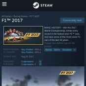 Steam - FREE F1 2017 Game Deal Image