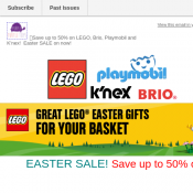 EASTER SALE! Save up to 50% off! @Lego Deal Image