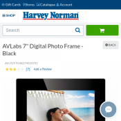 "AVLabs 7"" Digital Photo Frame - Black Deal Image"