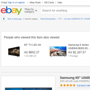 "Samsung 65"" Series 6 UHD LED TV AU $1590 (RRP AU $1988) Ebay Deal Image"