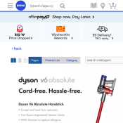 Dyson V6 Absolute $499 (RRP $599) @Big W Deal Image
