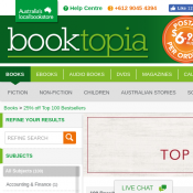 Save 25% on Top Bestsellers of the week at Booktopia Deal Image