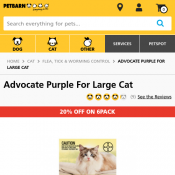Advocate Purple For Large Cat $17.84 @Petbarn Deal Image