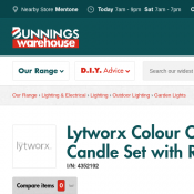 Lytworx Colour Changing LED Flameless Candle Set with Remote $9.90 @Bunnings Deal Image