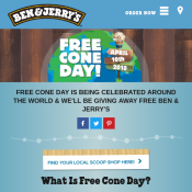 Free Cone Day 2018 @Ben & Jerry's Deal Image