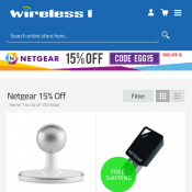 15% Off Netgear with code Deal Image