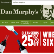 25% OFF Cleanskins Wines When you Buy 6 or more @Dan Murphy's Deal Image