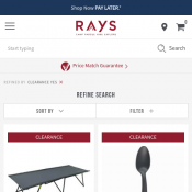 Rays Outdoors Flash Sale 50% OFF member prices  Deal Image