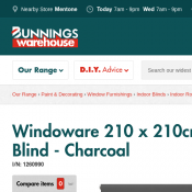 Windoware 210 x 210cm Charm Blockout Roller Blind  $19.90 (was $51) @Bunnings Deal Image