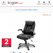 2 Pack Ergolux Luxe High Back Padded Office Chair $209 + Delivery Deal Image