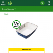 Jamie Oliver Terracotta Baking Dish 28.5cm $5 (was $20) @Woolworths Deal Image