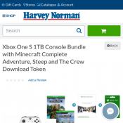Xbox One S 1TB Console Bundle with Minecraft Complete Adventure, Steep $347 Deal Image