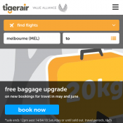 Free Baggage Upgrade from 15kg to 20kg @Tiger Air Deal Image