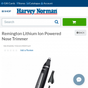 Remington Lithium Ion Powered Nose Trimmer $14.95 Deal Image